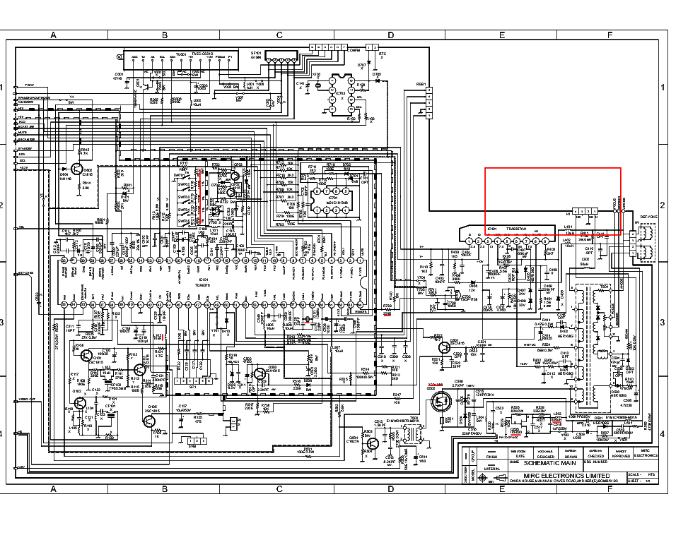 Onida 29 Oxygen Sch Service Manual Download  Schematics