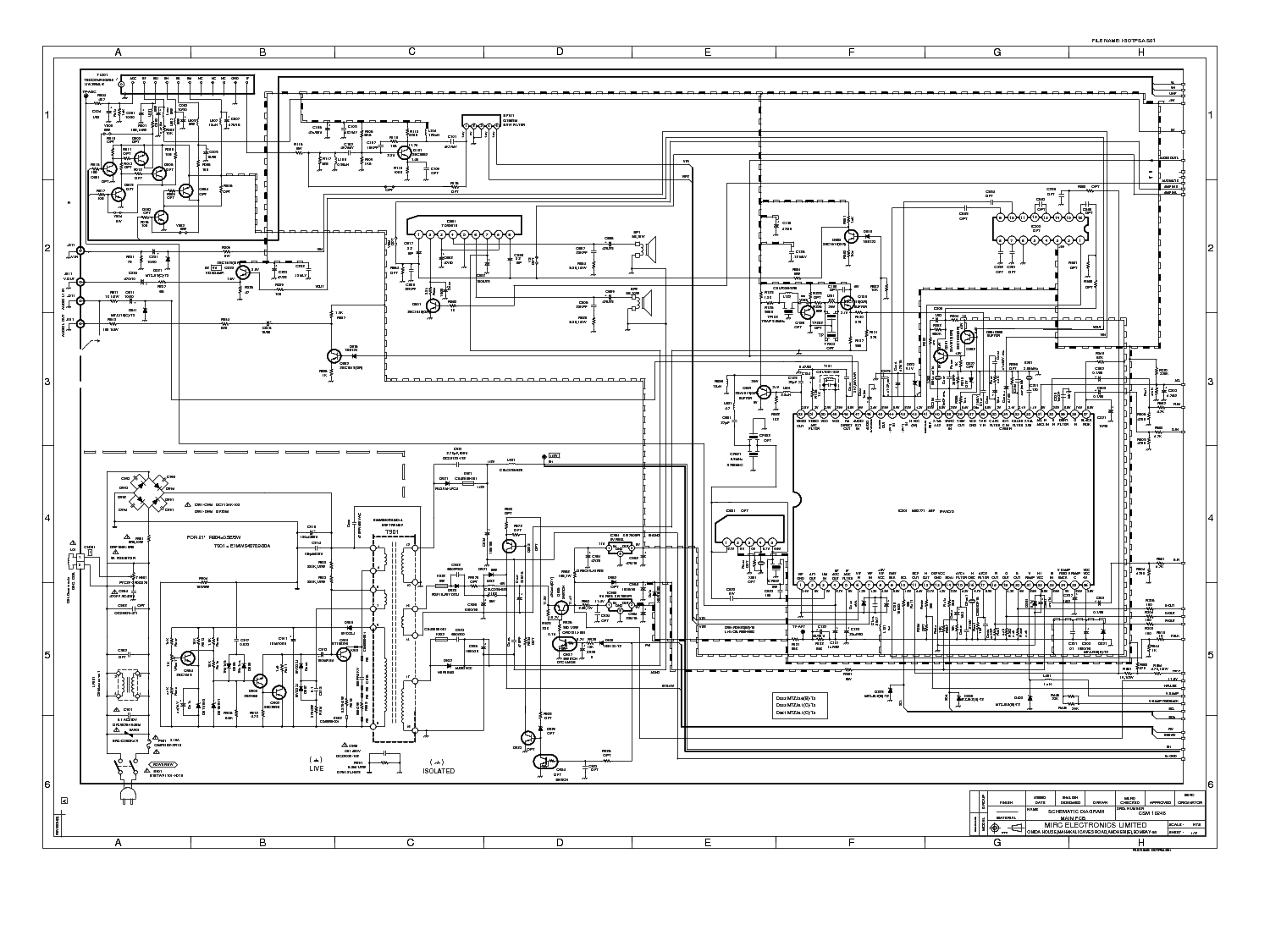 Onida Crt Tv Circuit Diagram
