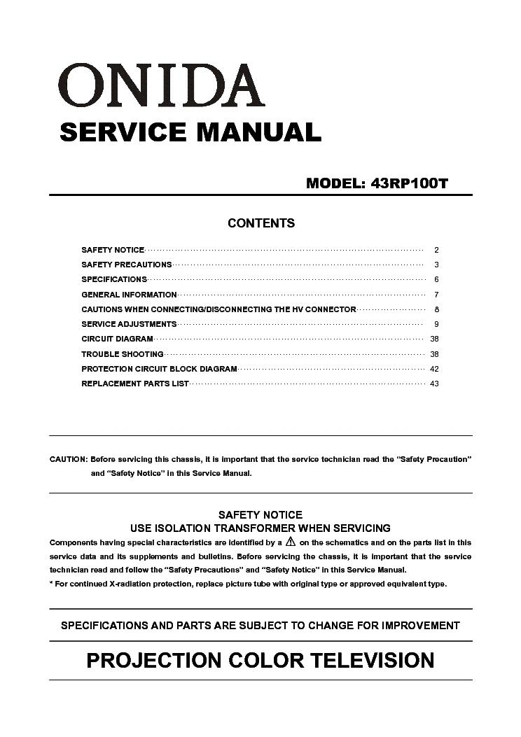 Onida 43rp100t Service Manual Download Schematics Eeprom Repair