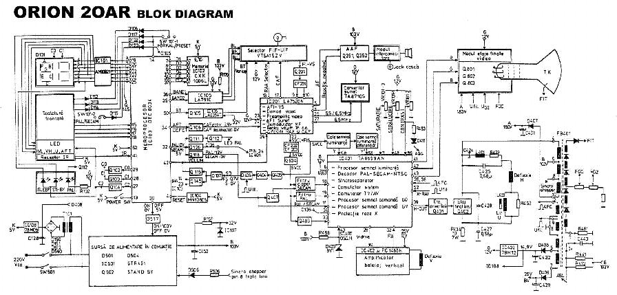 схема телевизора orion — схема