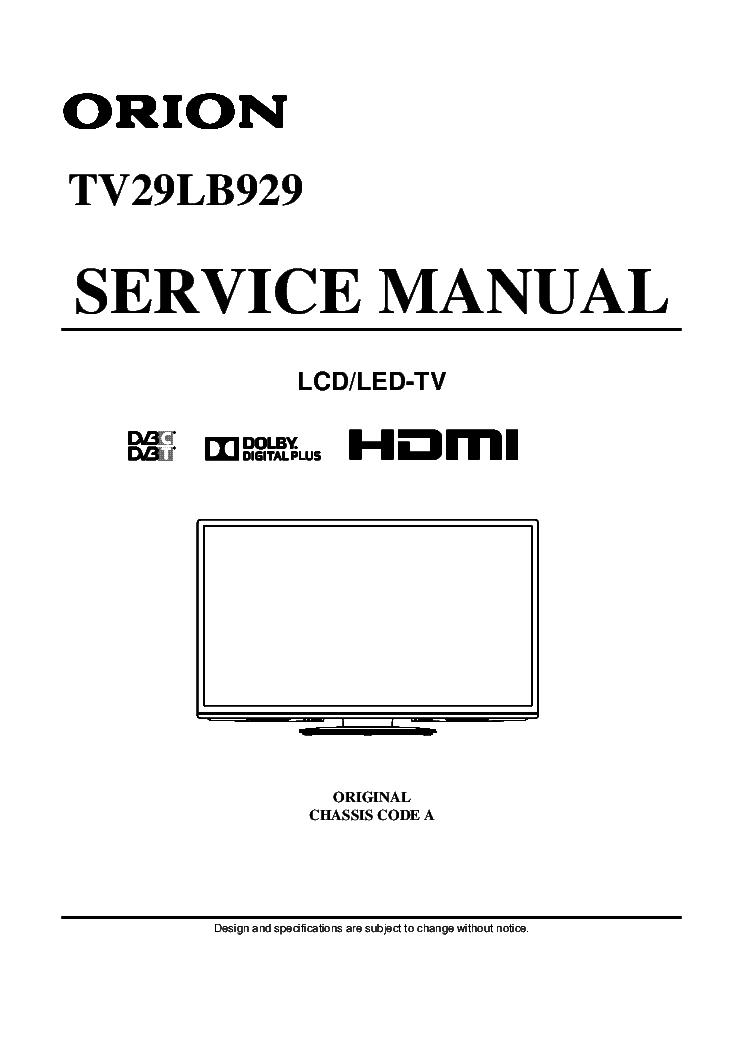 orion tv29lb929 service manual download schematics eeprom repair rh elektrotanya com Orion Company Orion Company