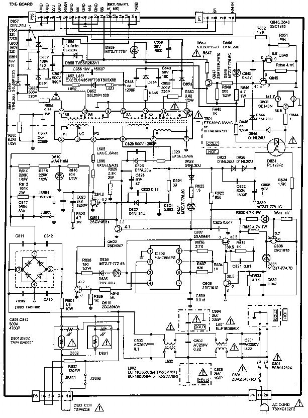 телевизора tact схема