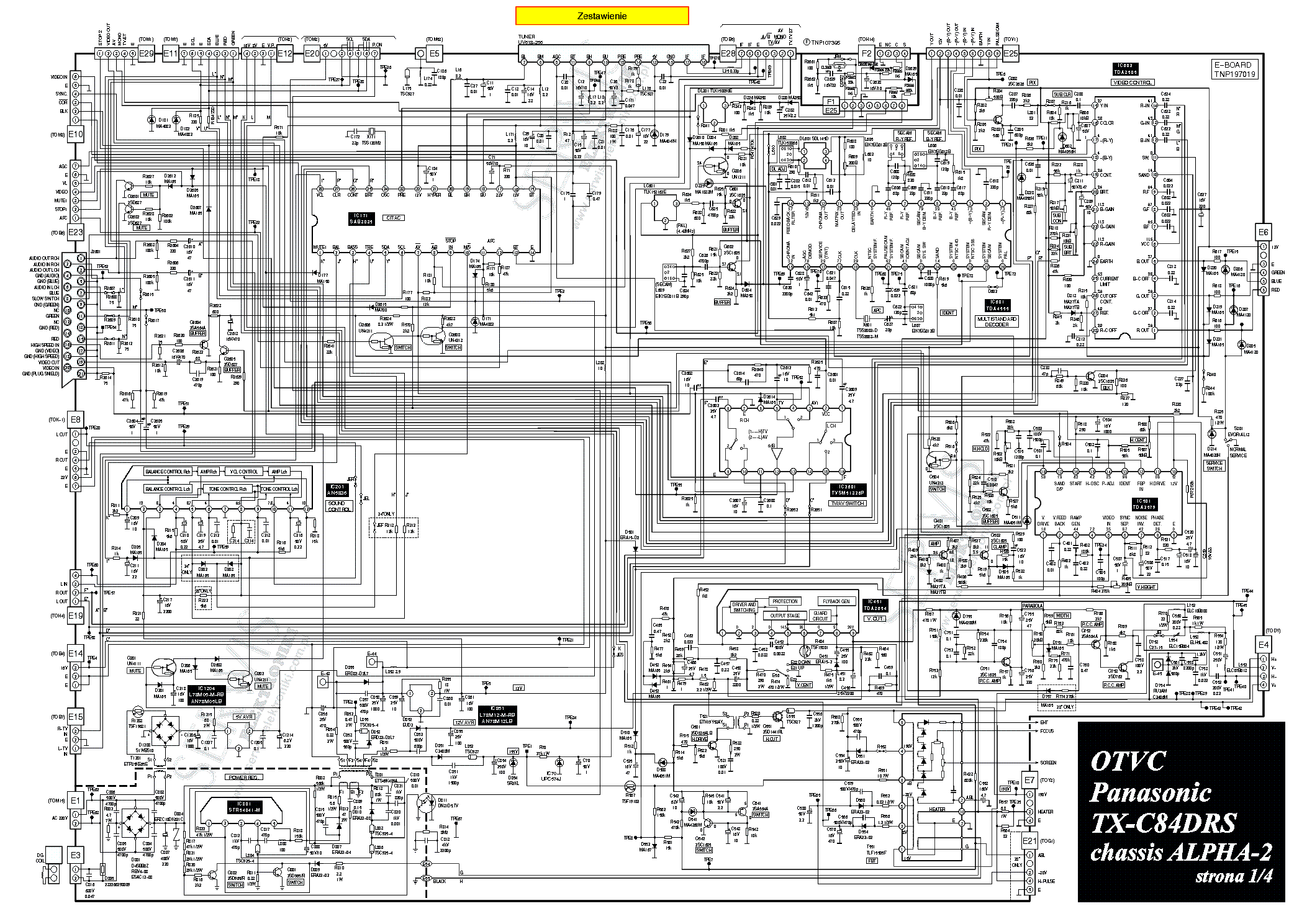 Схемы и шасси телевизоров