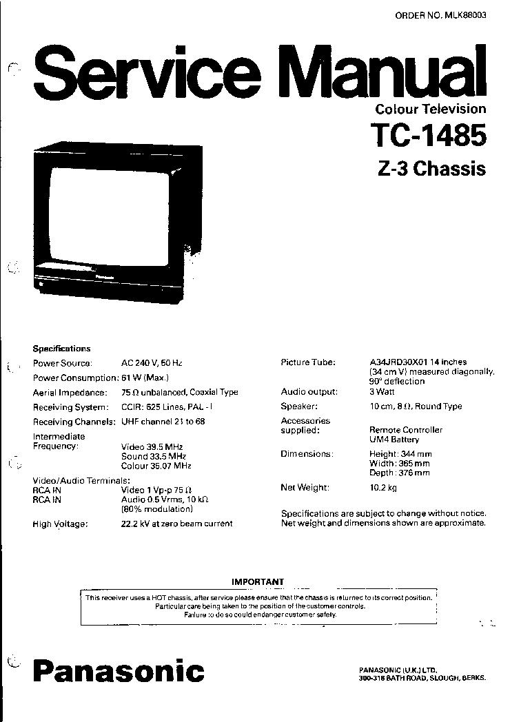panasonic tc p50g20 service manual