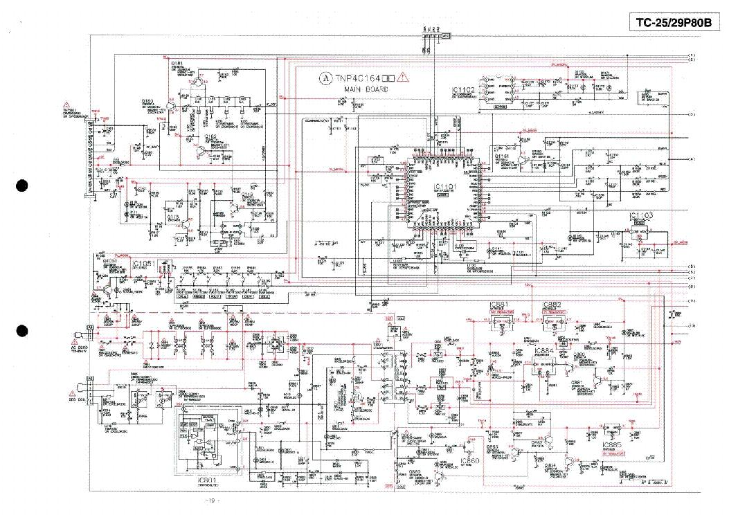 panasonic tc 25p80b tc 29p80b chassis mx 10a sch service manual free schematics