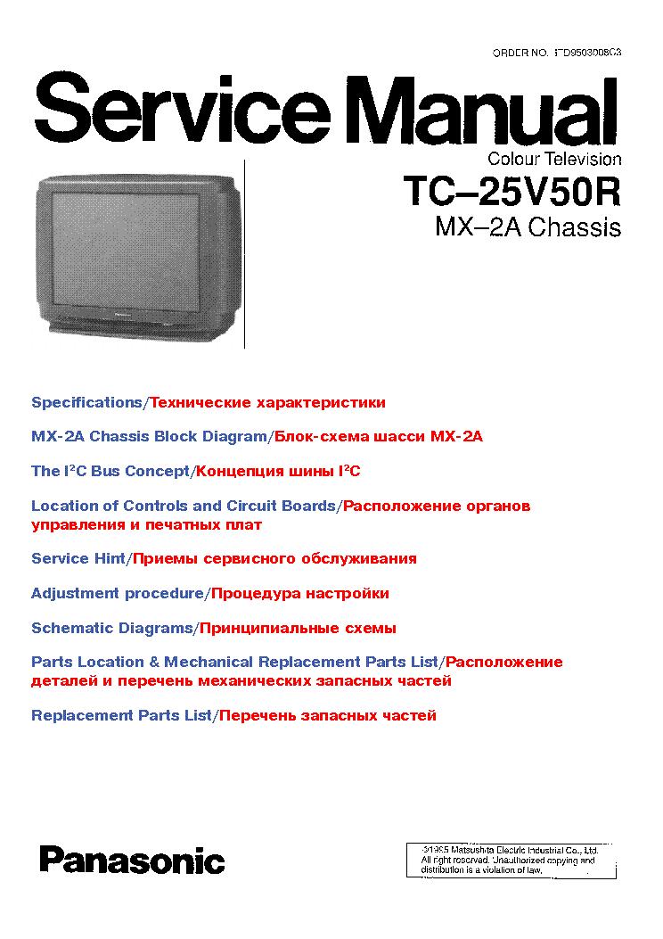 Сервис-мануал LCD TV Panasonic