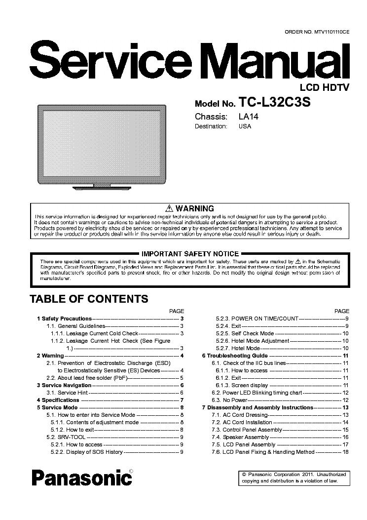 PANASONIC TC-L32C3S CH LA14