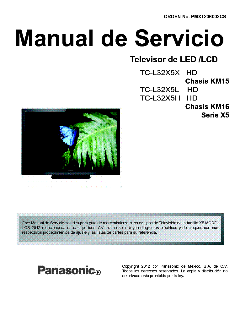 panasonic tc l32x5x ch km15 tc l32x5l tc l32x5h ch km16 led lcd tv rh elektrotanya com lcd tv service manual pdf lcd tv service manual free download pdf