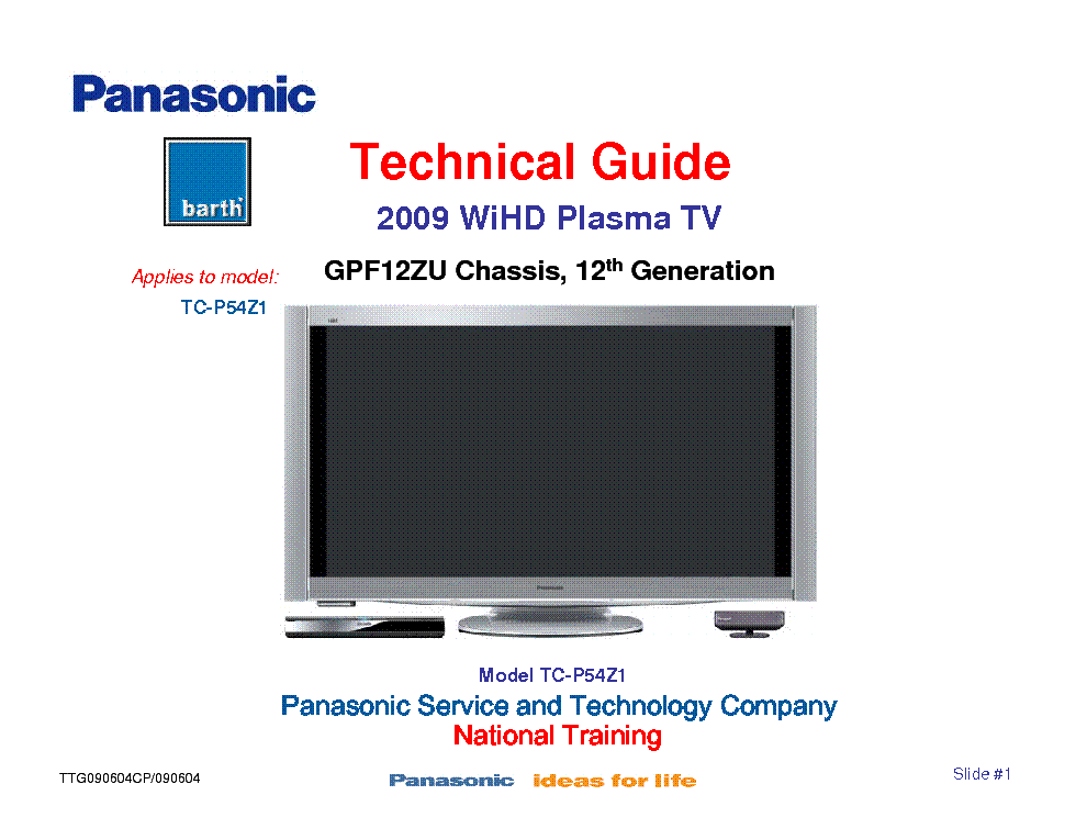 panasonic tc p54z1 chassis gpf12zu 12th generation 2009 tech guide rh elektrotanya com Clip Art User Guide panasonic tv user guide ct-2005sb