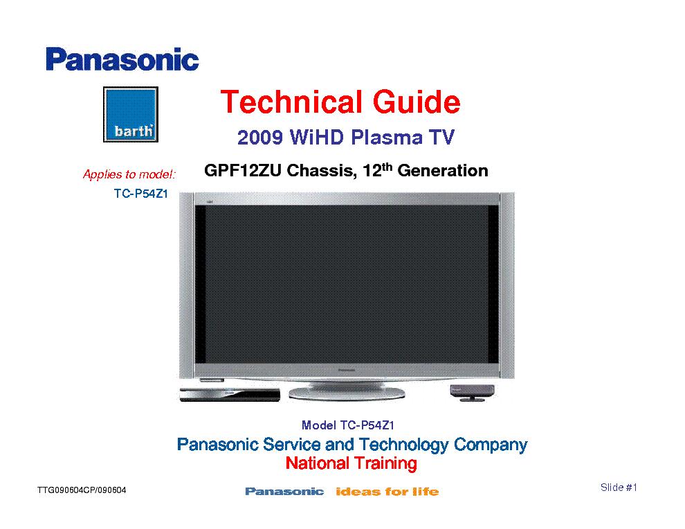 panasonic tc p50gt30 service manual