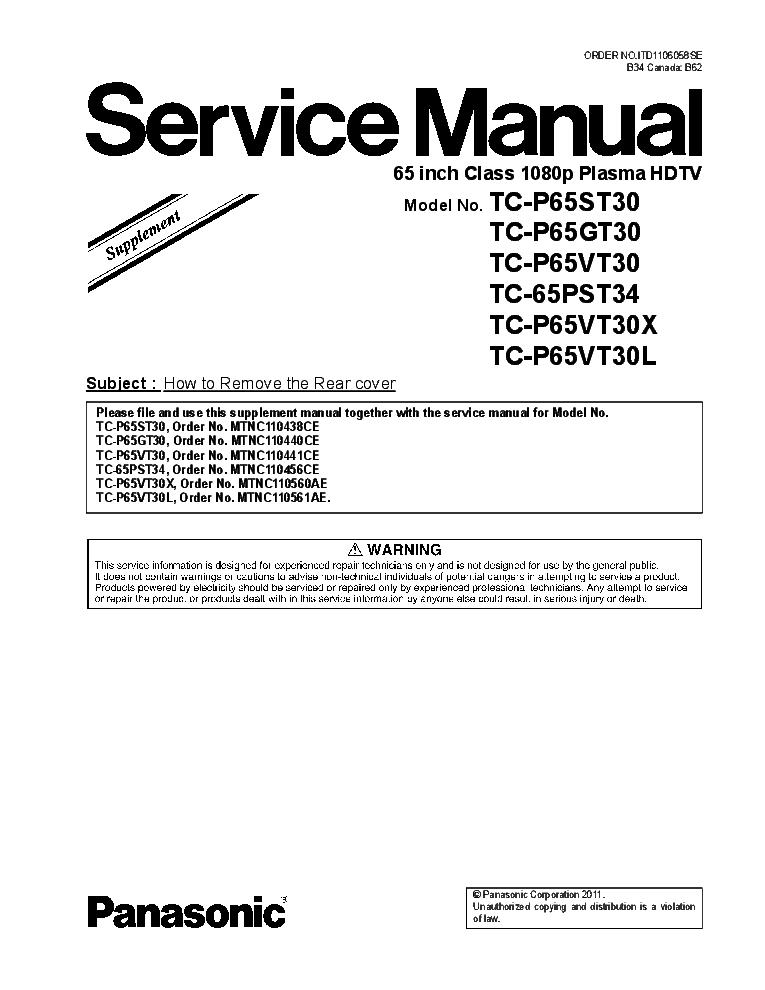 panasonic tc p50xt50 chassis gpf15du service manual download rh elektrotanya com
