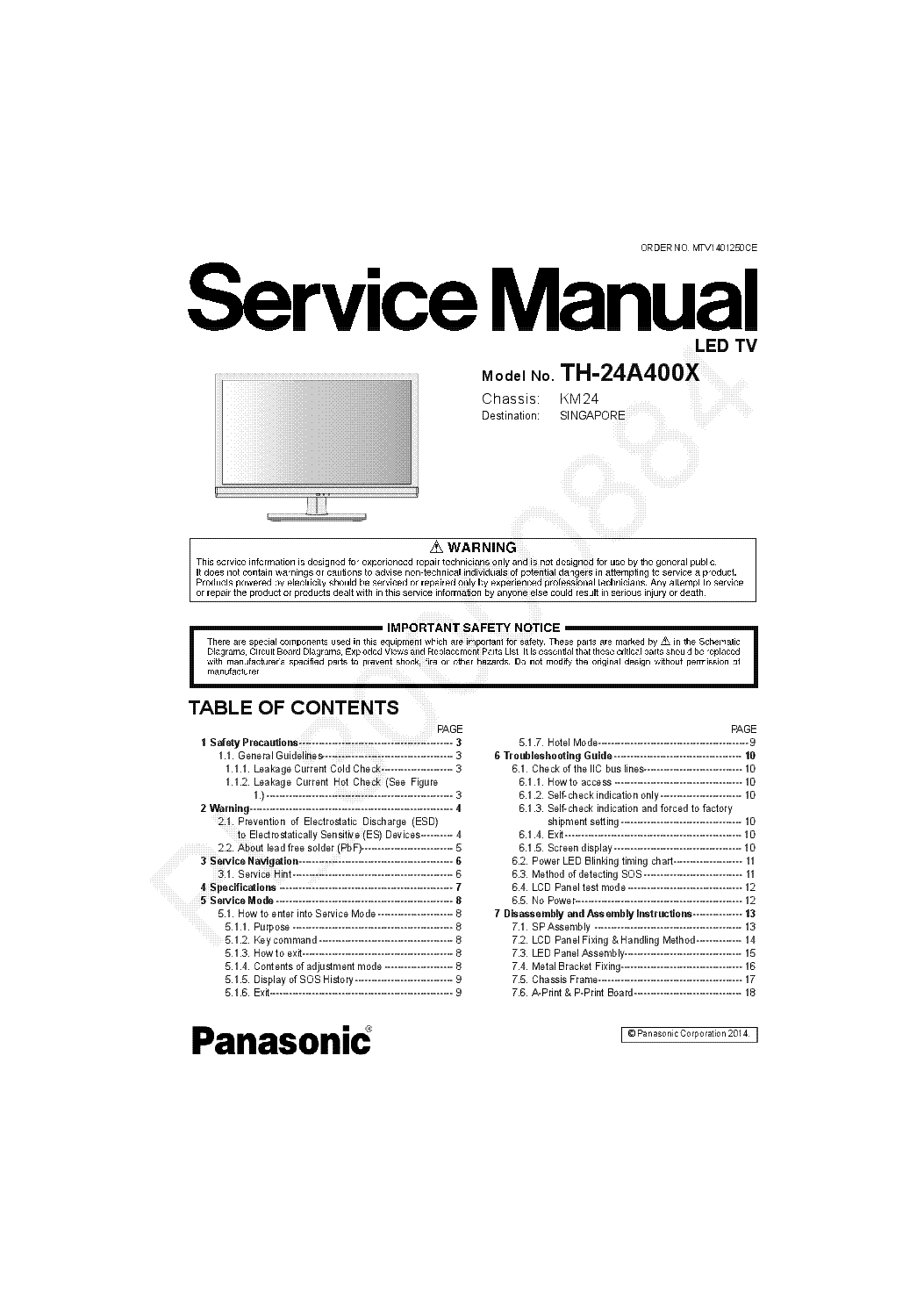 Panasonic Tc21z88rq Ch Gp 3 Service Manual Download Schematics Tv Circuit Board Repair
