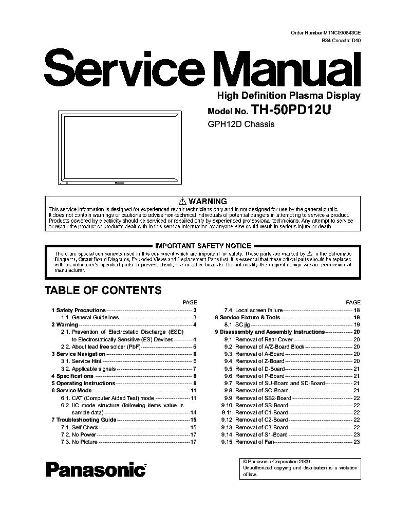 panasonic tc p55vt30 chassis gpf14du sm service manual. Black Bedroom Furniture Sets. Home Design Ideas