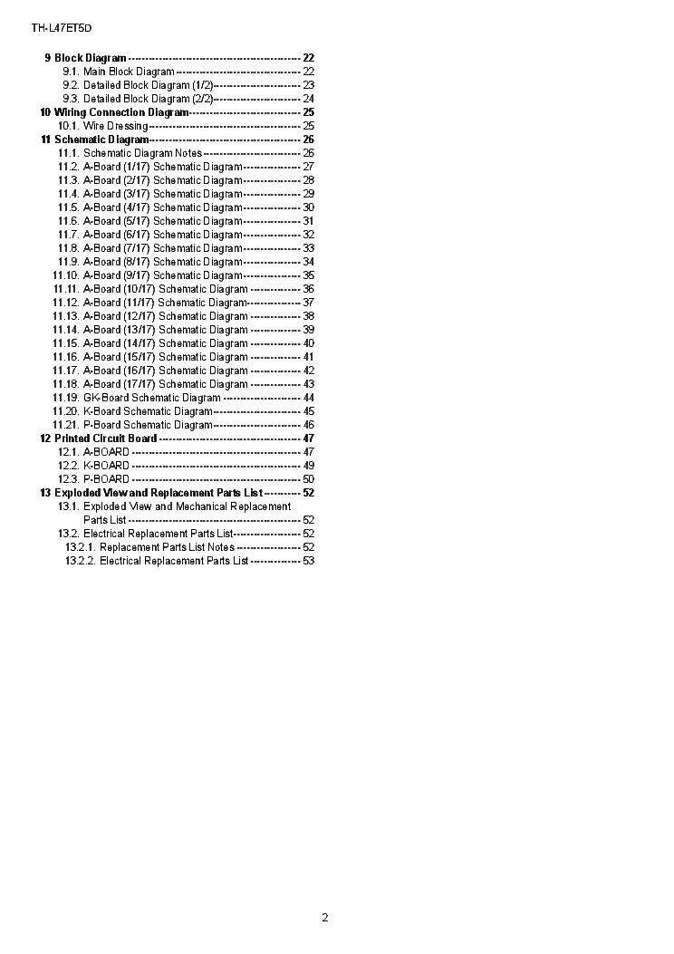 PANASONIC TH-L47ET5D CHASSIS LA35 LED TV Service Manual download