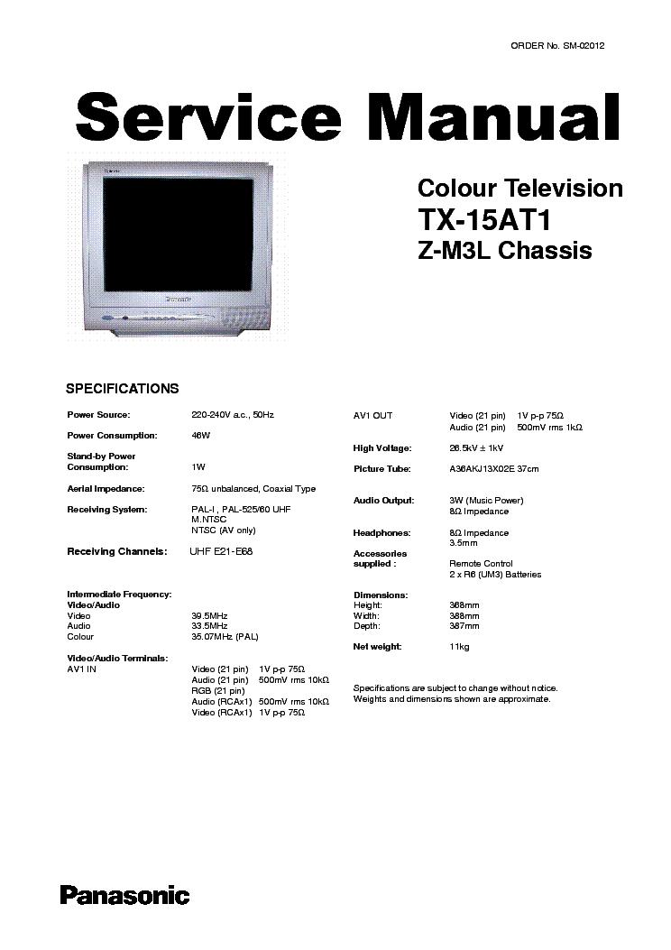 PANASONIC TX-15AT1 CHASSIS