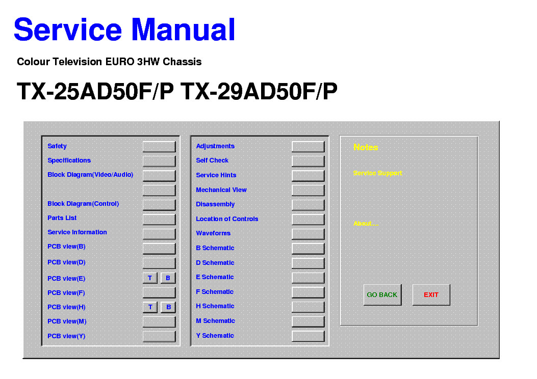panasonic service manual free download