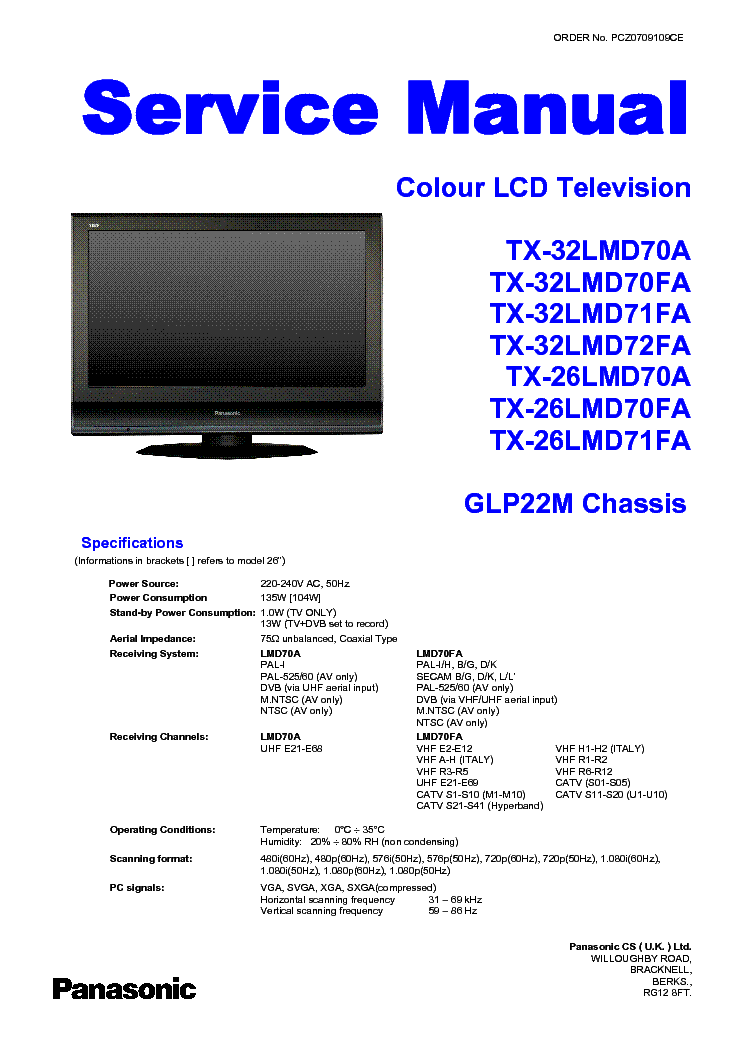 How to reset the tv to the factory default settings.