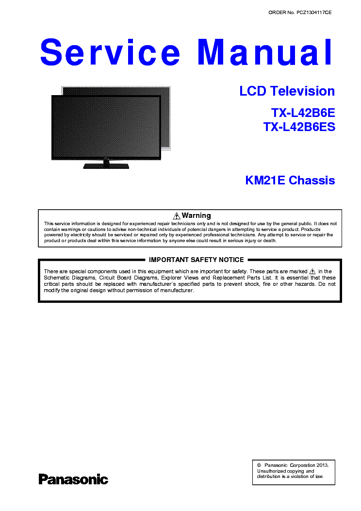 panasonic tx l42b6 ch km21e service manual download schematics rh elektrotanya com panasonic viera lcd tv service manual panasonic lcd tv service manual