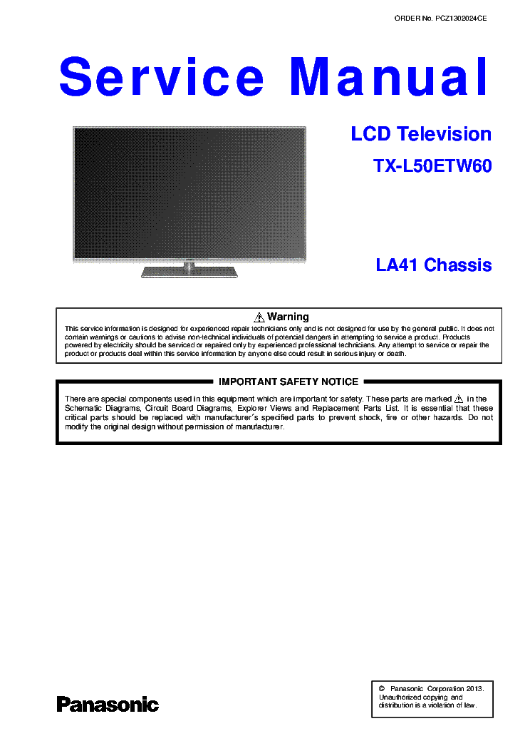 PANASONIC VIERA TH-55CS630T TV DRIVERS (2019)