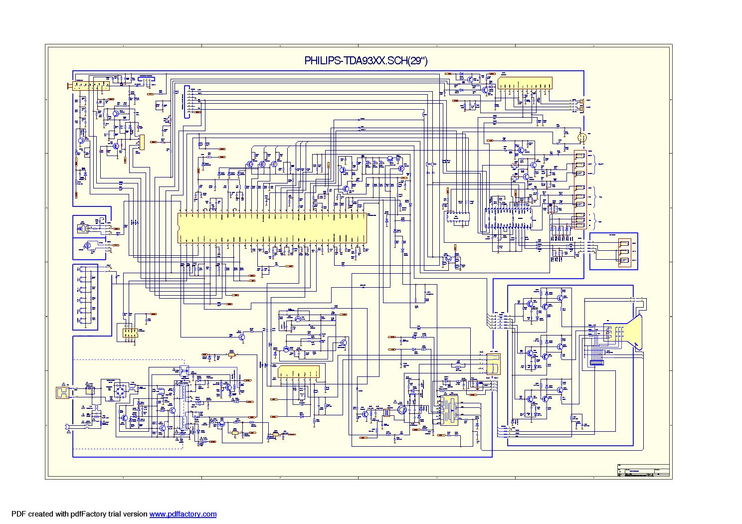 Gaba Philips 29 Th29pnl Service Manual Download Schematics Eeprom Electronic Circuit Diagram Tv Vertical Using La78041 La78040 1st Page