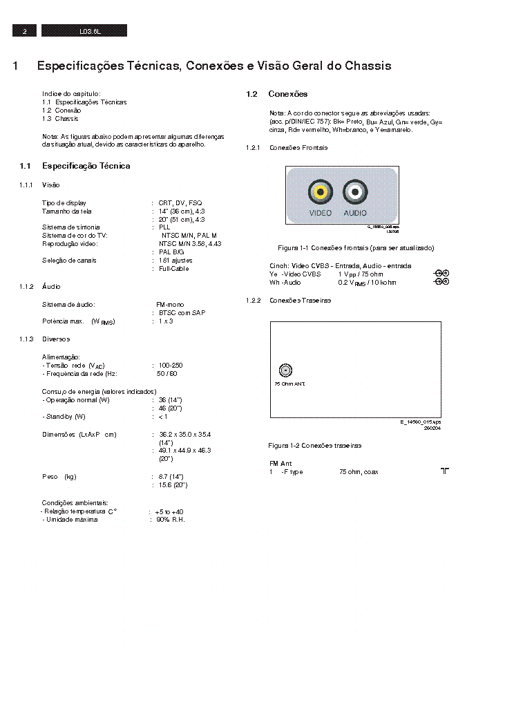 Philips 20pt3336 Chassis L03 6lca Service Manual Download
