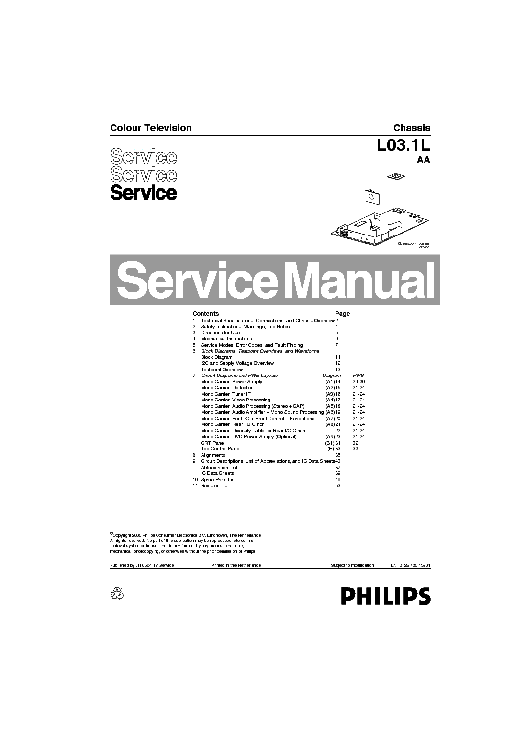 philips tv ch lc4 2e aa service manual service manual
