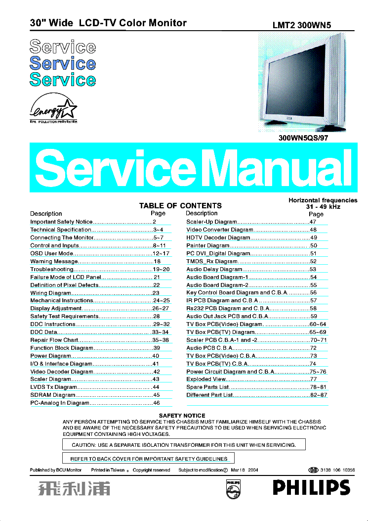 Bv 300 service manual array philips 300wn5 chassis lmt2 service manual download schematics rh elektrotanya com fandeluxe Image collections