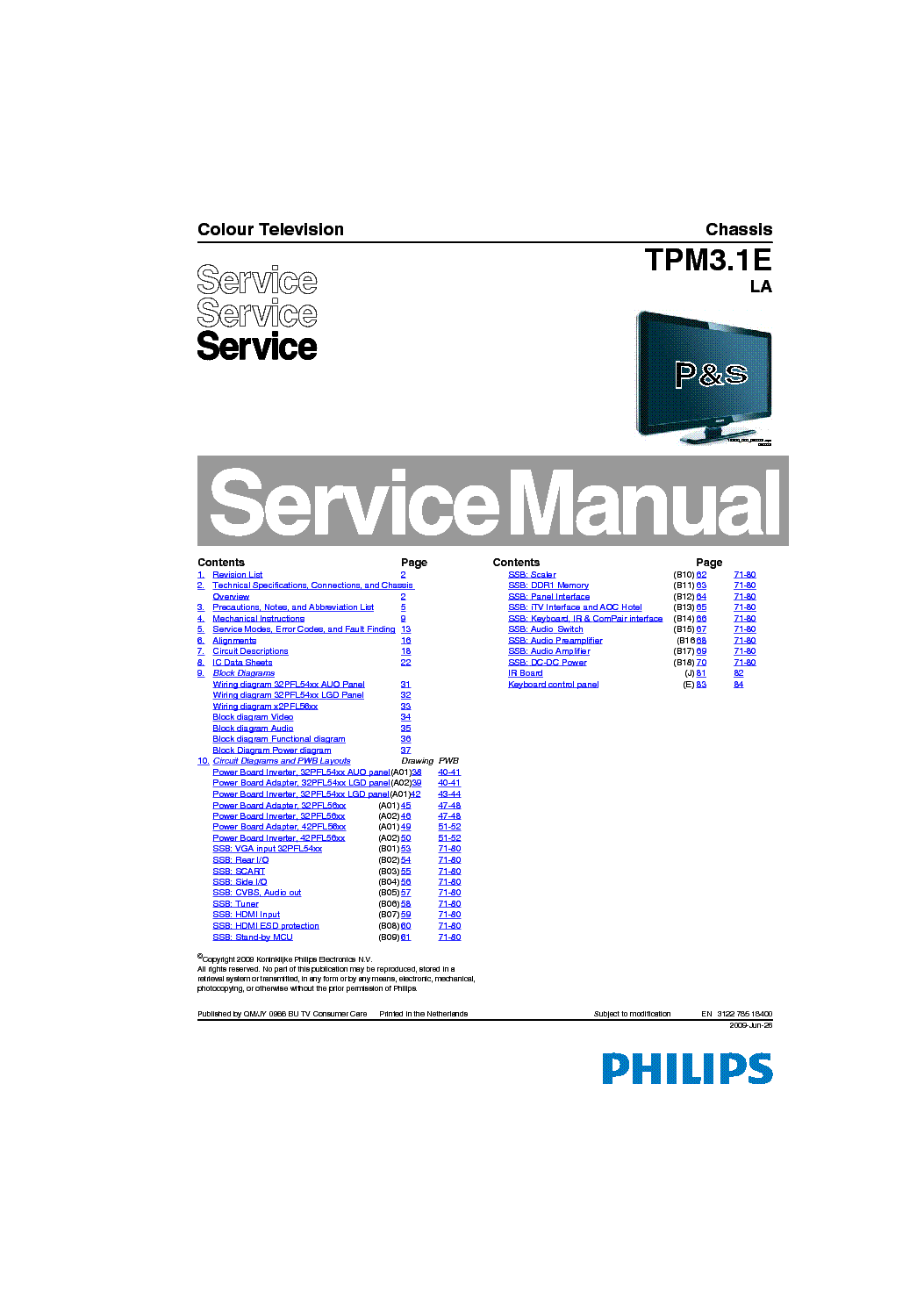 philips 32pfl5404 chassis tpm3 1e la service manual download rh elektrotanya com manual tv lcd philips 32 pulgadas manual tv lcd philips 32