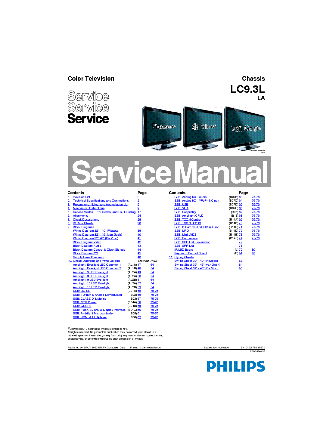 philips 32pfl5605d 78 6605d 78 led tv service manual free. Black Bedroom Furniture Sets. Home Design Ideas