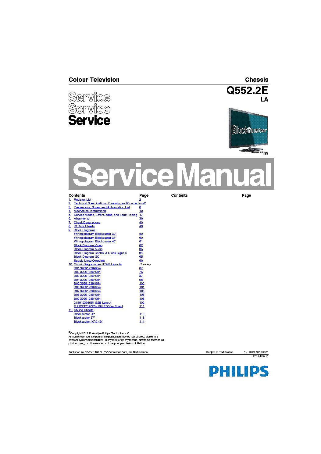 Philips 40pfl6606h 12 Chassis Q552 2e