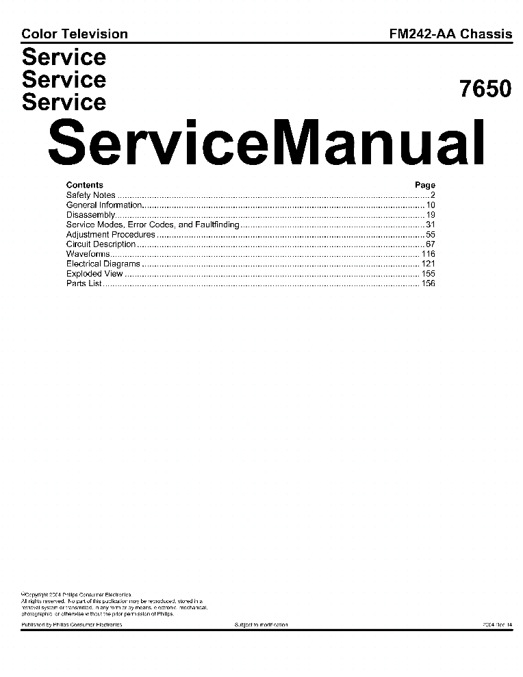 PHILIPS 42FD993517 SM service manual