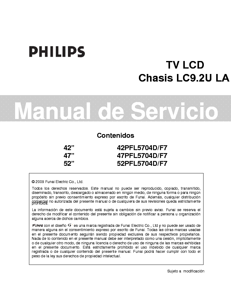 philips 42pfl5704d f7 47pfl5704d 52pfl5704d chassis lc9 2ula service rh elektrotanya com Philips Schematics Philips Instruction Manuals