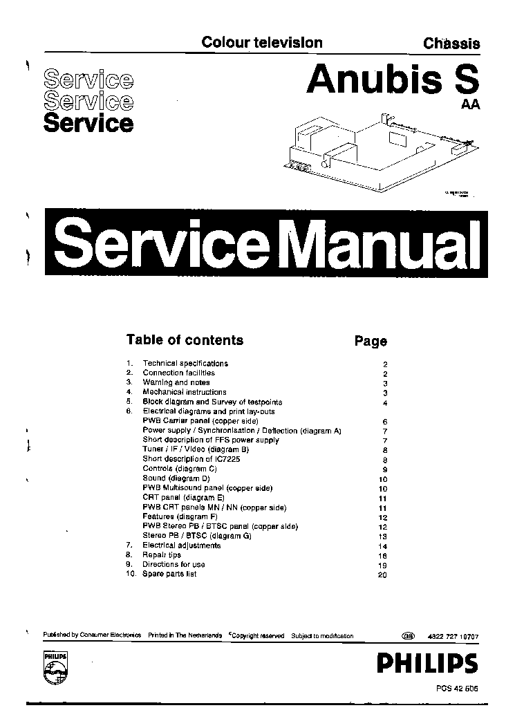 philips chassis anubis s aa tv sm service manual download