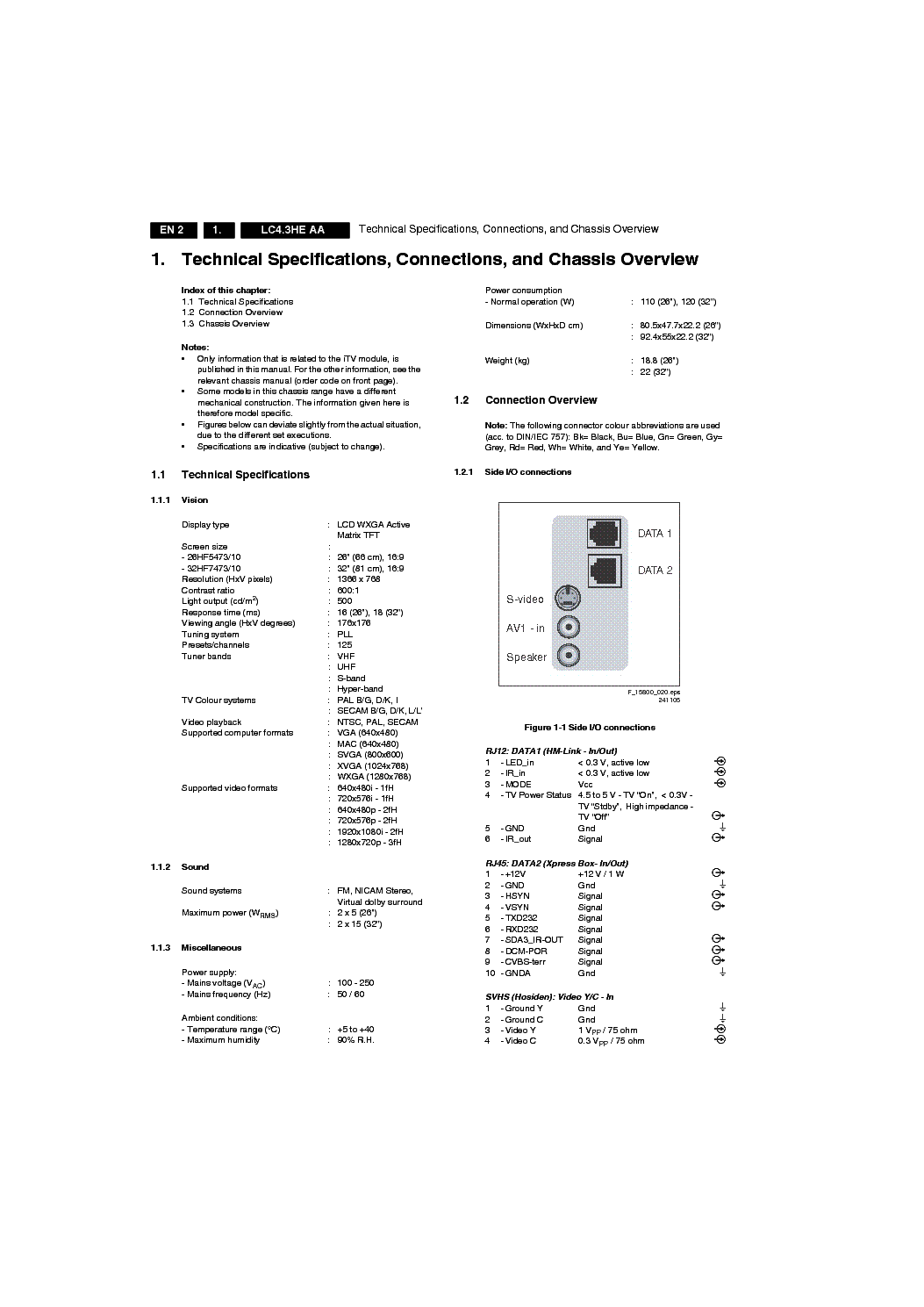 PHILIPS CHASSIS LC4.3HE-AA service manual (2nd page)