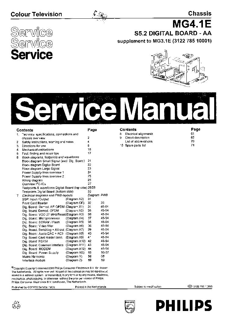 philips 32pfl3605 service manual free download  schematics