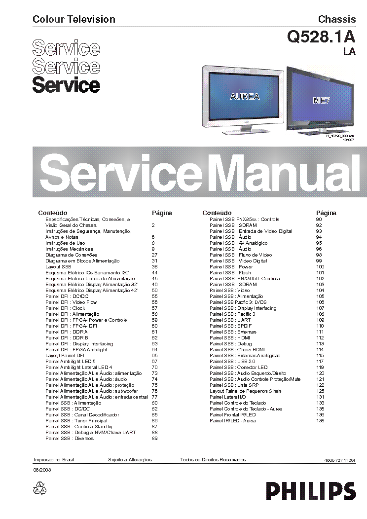 PHILIPS Q528.1ALA 480672717361 42PFL9900 service manual (1st page)