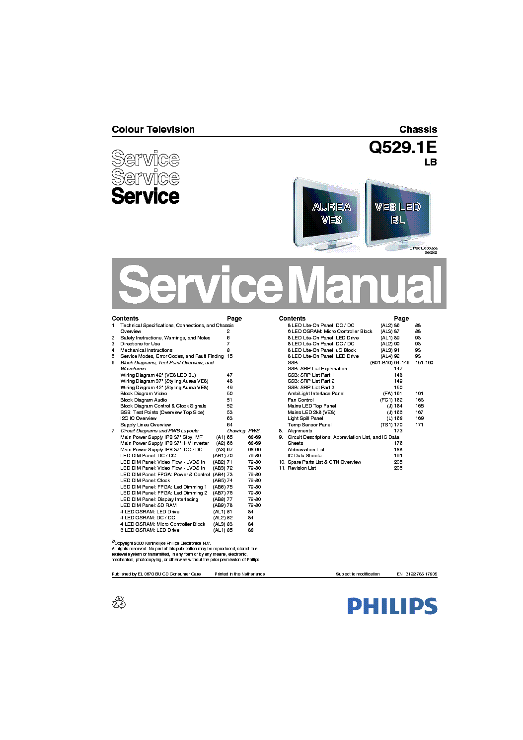 philips q529 1e lb chassis lcd service manual download