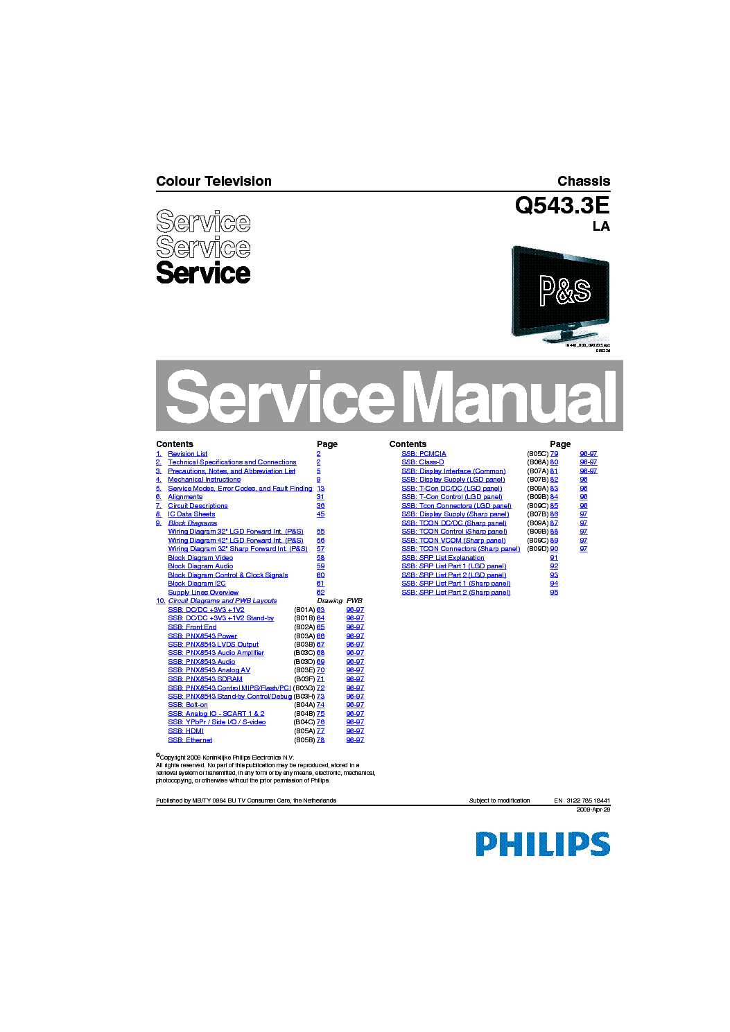 Philips Q5433e La Chassis Lcd Service Manual Download Schematics Phillips Wiring Diagrams 1st Page
