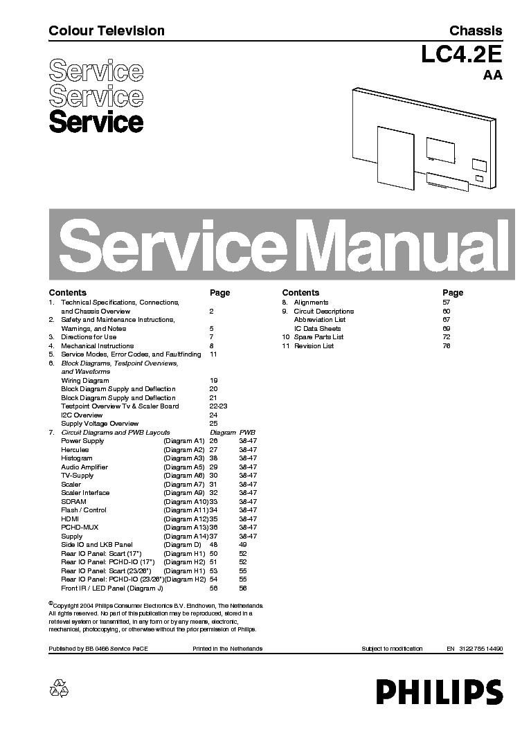 philips tv ch lc4 2e aa service manual service manual download rh elektrotanya com philips service manual mp20 philips service manual free download