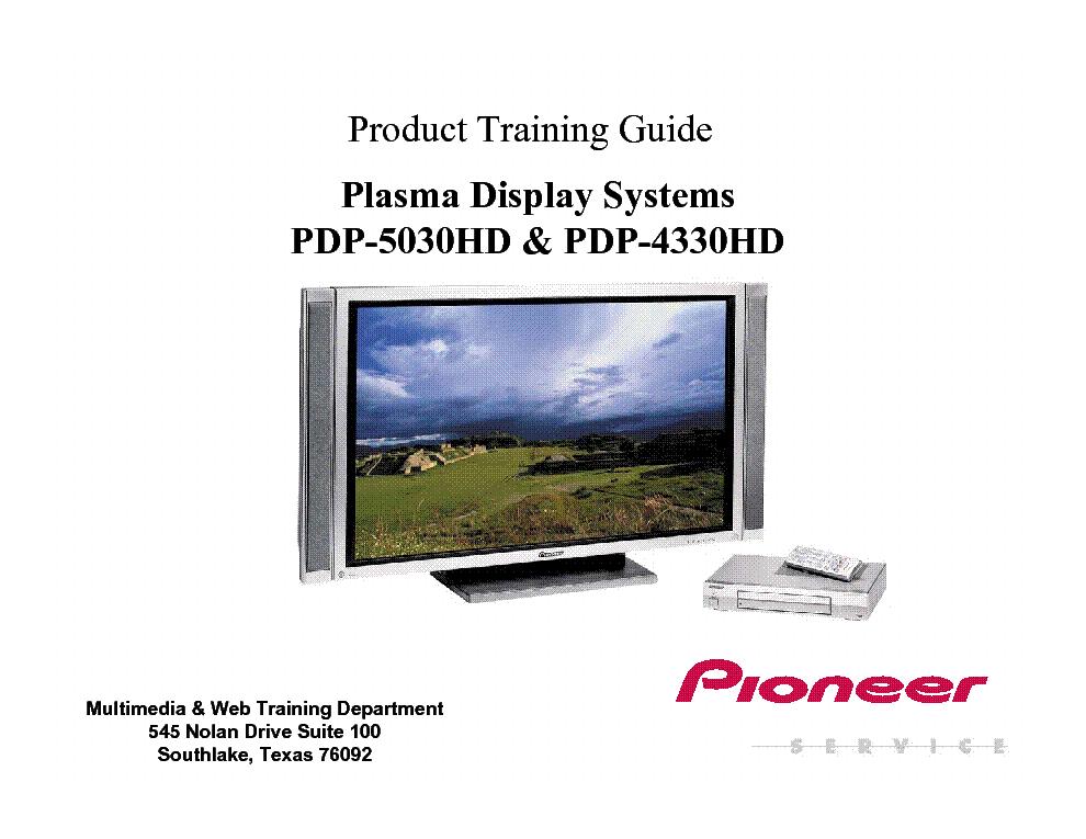pioneer pdp5030hd plasma tv trainig manual service manual download rh elektrotanya com pioneer plasma tv service manual pioneer 43 plasma tv manual