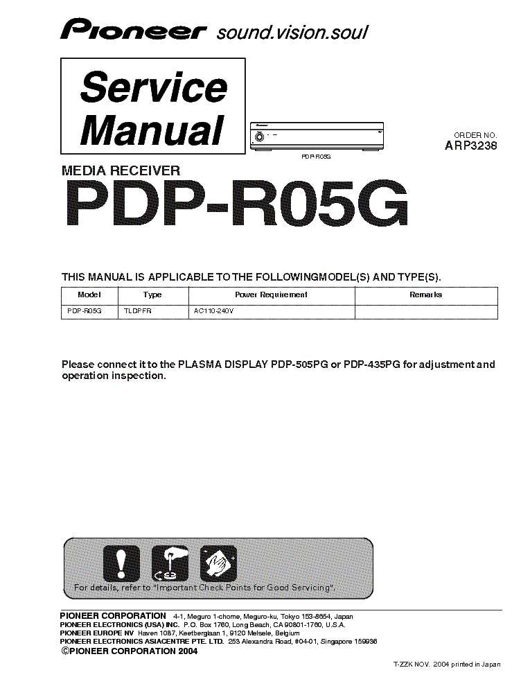 pioneer pdpr05g plasma service manual download schematics eeprom rh elektrotanya com pioneer plasma tv manual pioneer kuro plasma manual