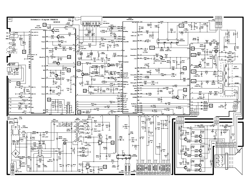 POLAR S0501Z - LT01-51KG , UC3842 , TDA8842 , TDA9302H , TDA SCH