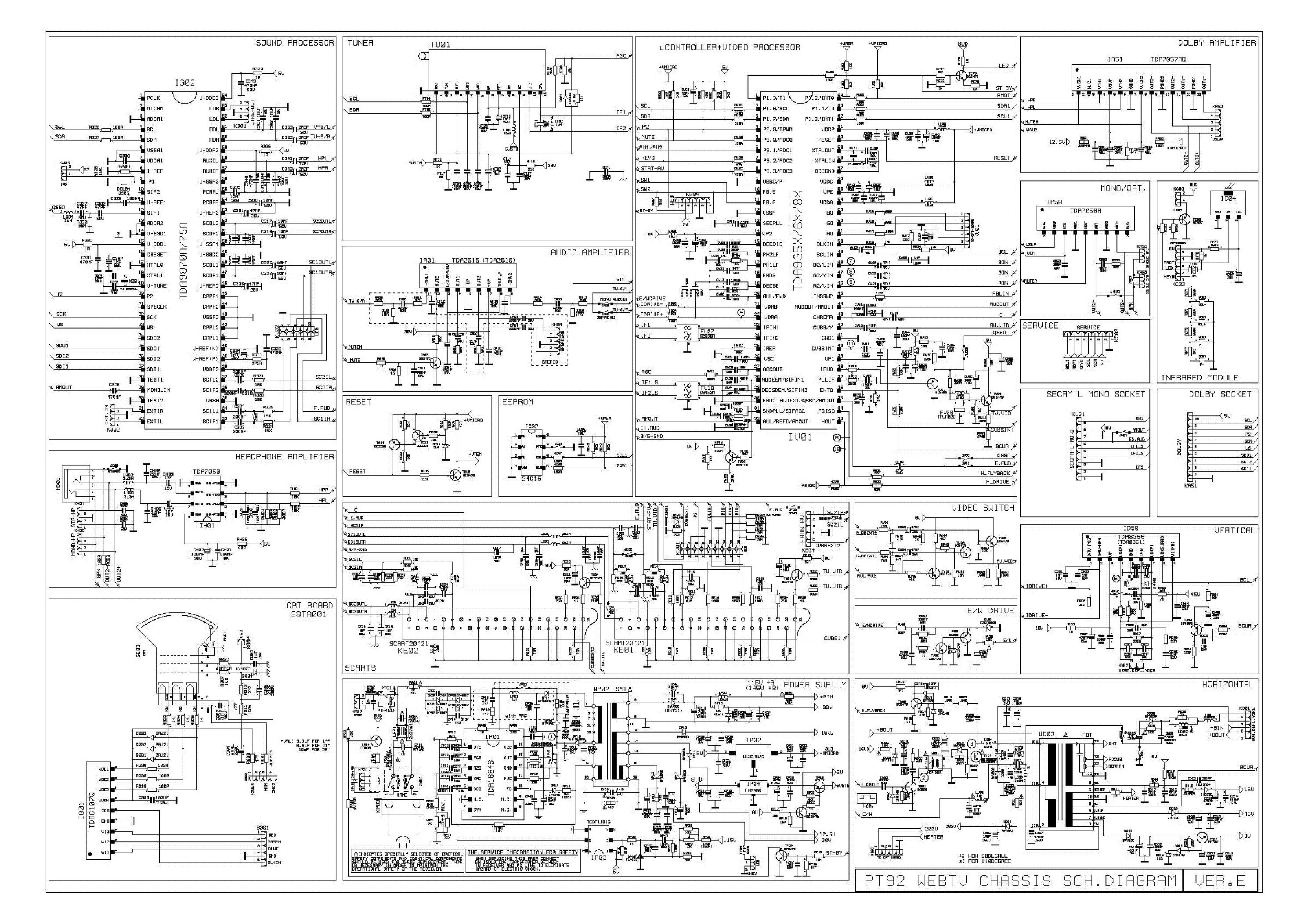 принципиальная схема телевизионной платы hx08ta002m