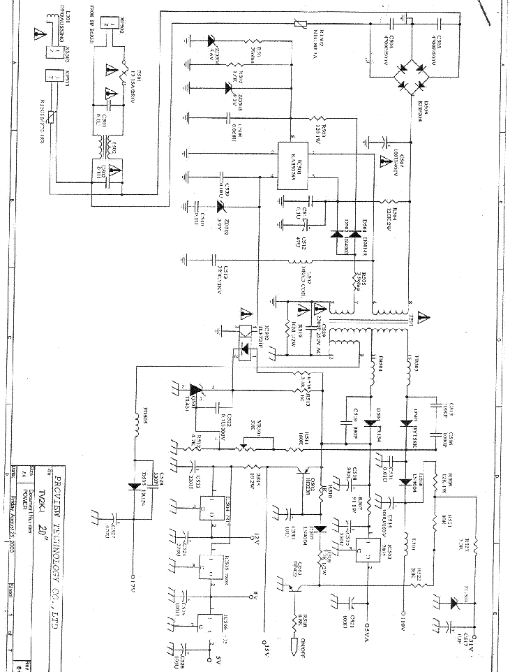 provision tv84 sch service manual download  schematics