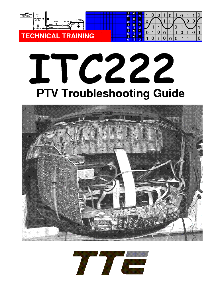 RCA ITC222 PJTV TROUBLESHOOTING GUIDE service manual
