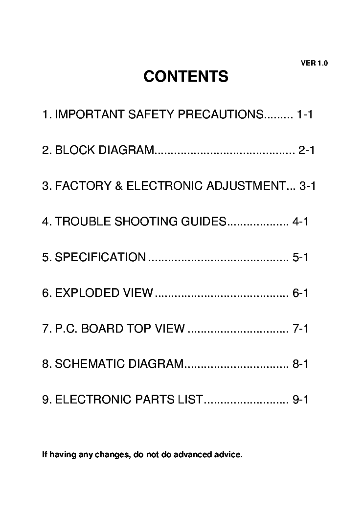 SAMPO SME-27FDL5 service manual (2nd page)