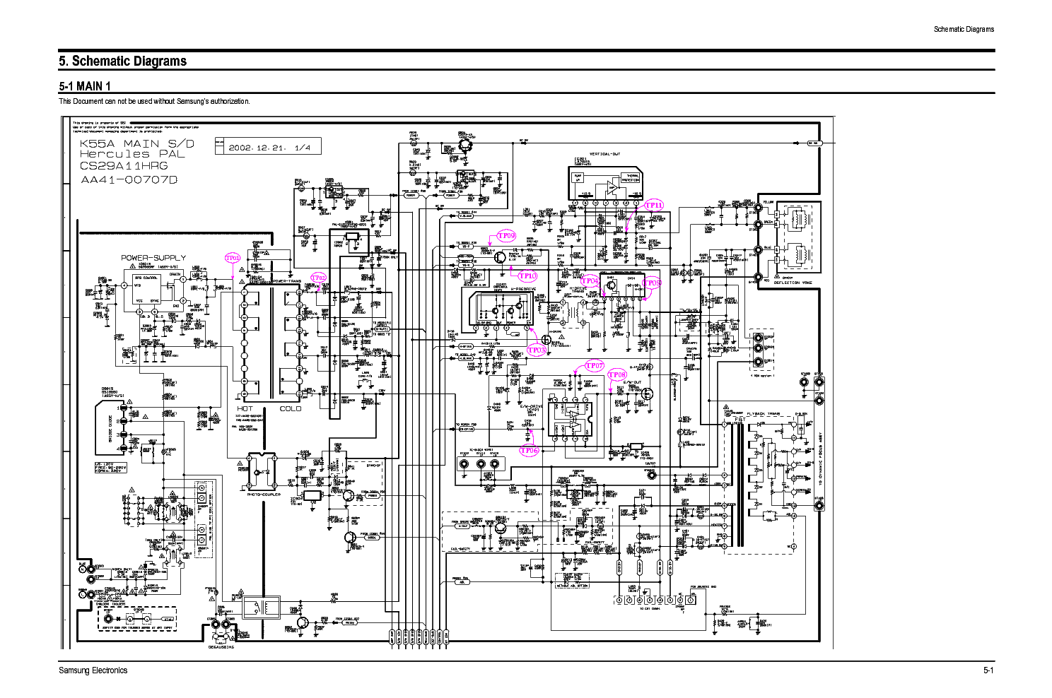 Samsung Cs29a11ssgxbwt Ch K55a Service Manual Download