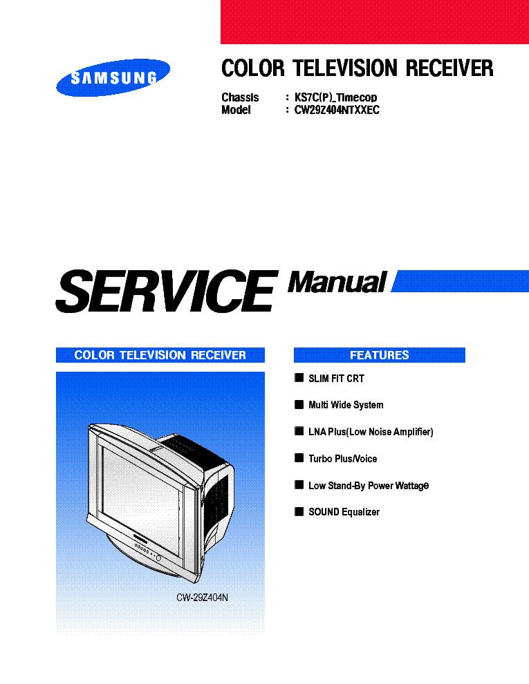 samsung cw29z404ntxxec ks7c p timecop service manual downloadsamsung cw29z404ntxxec ks7c p timecop service manual (1st page)