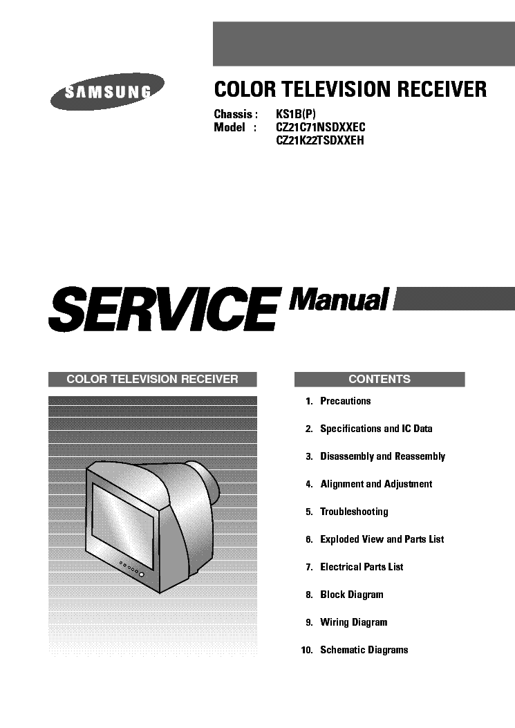 SAMSUNG CZ21C71NSD CHASSIS KS1B service manual (1st page)
