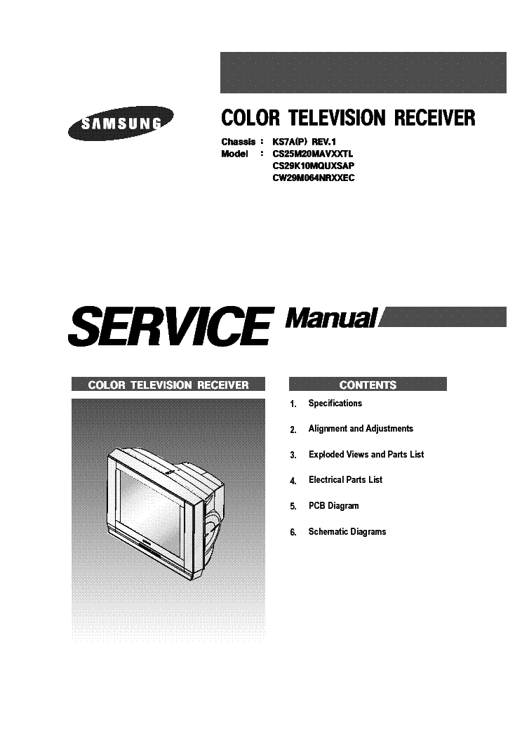 SAMSUNG CHASSIS KS7A CW29M064N 1165 service manual.  Click on the link for free download!
